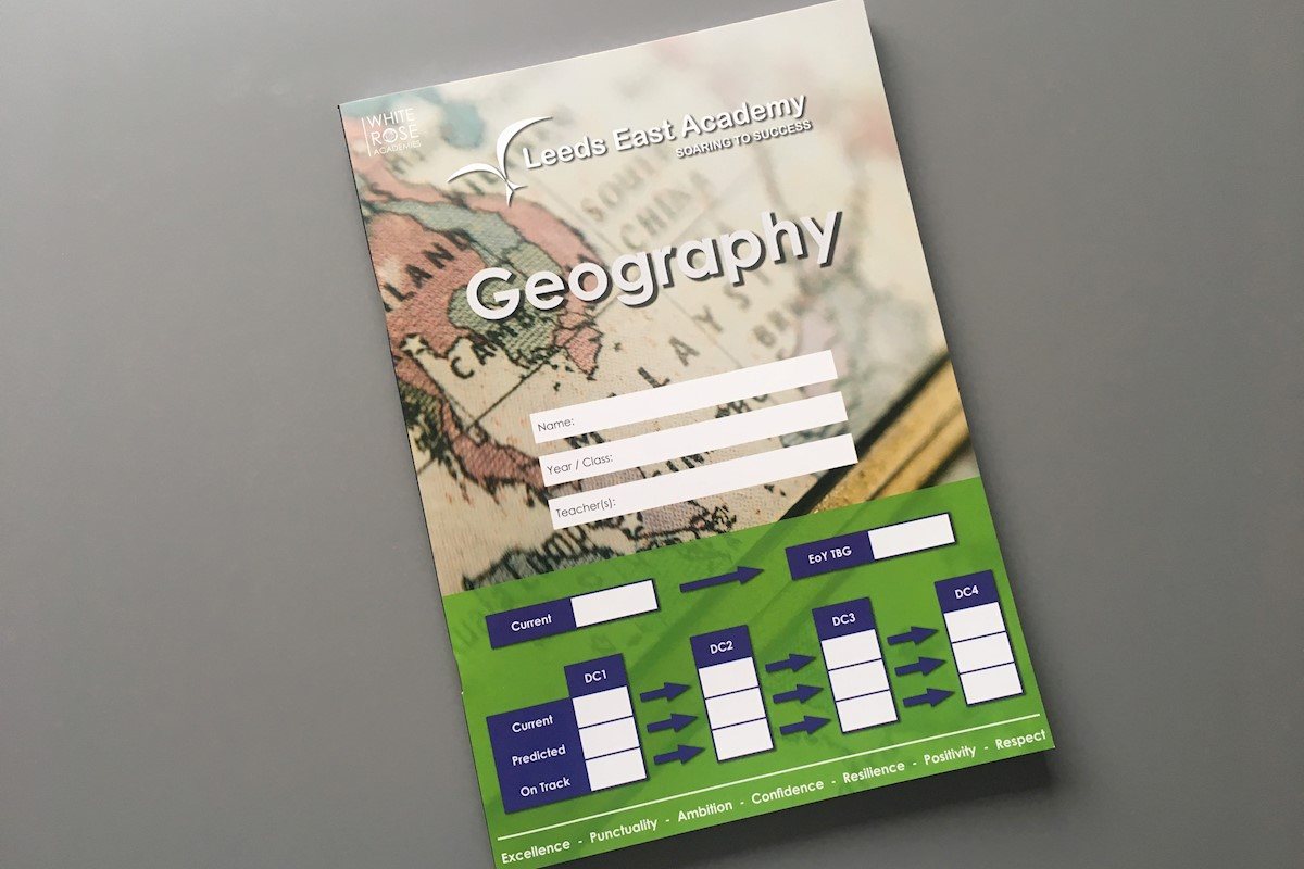 Geography School Book Cover Ideas : Geography exercise books leeds east examples