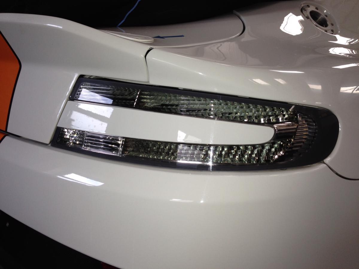 Aston Martin Vantage Db9 Clear Rear Lights Grey Surround David Appleby Engineering