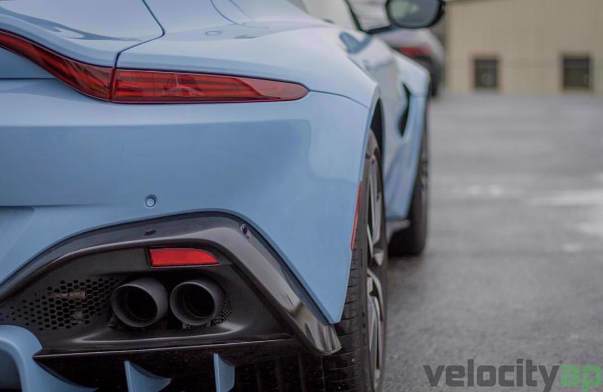Aston Martin Vantage Amv8 2019 On 4 0tt Oem Sports Exhaust Tip Upgrade David Appleby Engineering